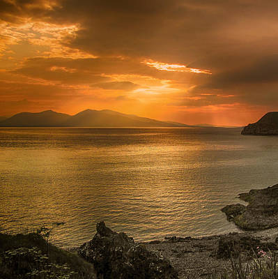 Photograph - Sunset Over Lismore Island by Fiona Messenger