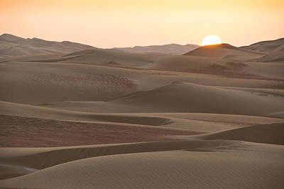 Photograph - Sunset Over Liwa Dunes by Michele Burgess