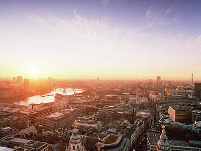 Photograph - Sunset Over London City by Shomos Uddin
