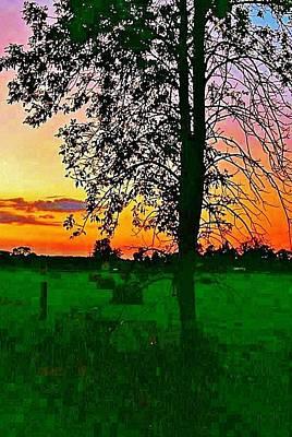 Sunset Over M-33 Art Print by Daniel Thompson