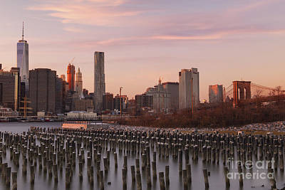 Photograph - Sunset Over Manhattan  by Keith Kapple