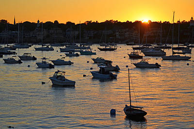 Photograph - Sunset Over Marblehead Harbor by Toby McGuire