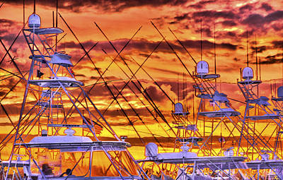 Sunset Over Marina Art Print