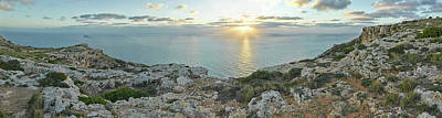 Sunset Over Mediterranean Sea, Dingli Art Print by Panoramic Images