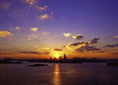 Photograph - Sunset Over Miami by Lou  Novick