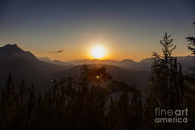 Photograph - Sunset Over Mittenwald by Fabian Roessler