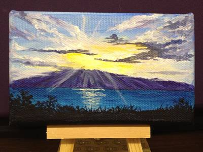Painting - Sunset Over Molokai by Darice Machel McGuire