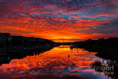 Photograph - Sunset Over Morgan Creek - Wild Dunes Resort by Donnie Whitaker