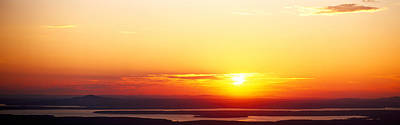 Maine Mountains Photograph - Sunset Over Mountain Range, Cadillac by Panoramic Images