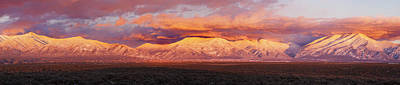 Sunset Over Mountain Range, Sangre De Art Print by Panoramic Images
