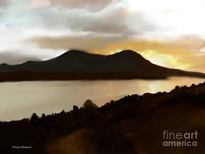 Clearlake Digital Art - Sunset Over Mt. Konocti by Naomi Richmond