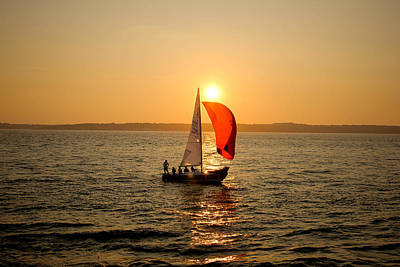 Photograph - Sunset Over Narragansett Bay by Allan Millora