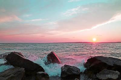 Rose Photograph - Sunset Over Newport Rhode Island by Brooke T Ryan