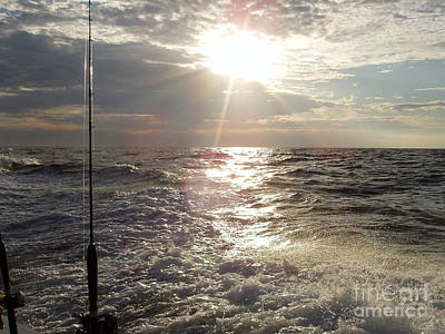 Photograph - Sunset Over Nj After Fishing by John Telfer
