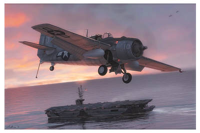 Carrier Painting - Sunset Over Ommaney Bay by Hangar B Productions