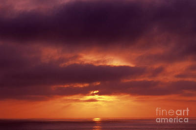 Photograph - Sunset Over Pacific Ocean by Jim Corwin