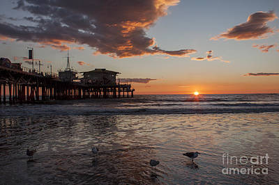 Sunset Over Pacific Art Print
