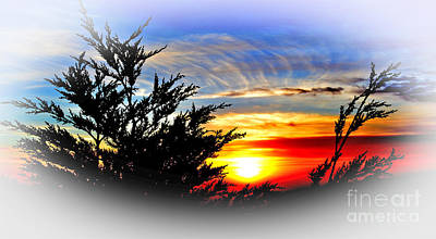 Photograph - Sunset Over Pacifica With Vignette Effect by Jim Fitzpatrick
