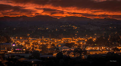 Photograph - Sunset Over Paso  by Tim Bryan
