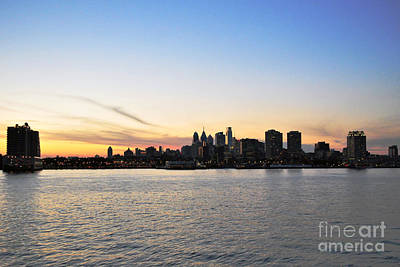 Sunset Over Philadelphia Art Print