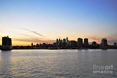 Photograph - Sunset Over Philadelphia by Scott D Welch