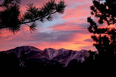 Photograph - Sunset Over Pikes Peak by Marilyn Burton