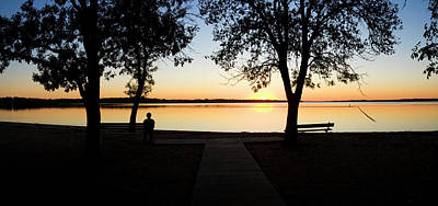 Pomona Photograph - Sunset Over Pomona Reservoir At Pomona by Panoramic Images