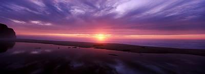 Sunset Over Pomponio State Park, San Art Print