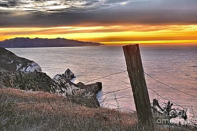 Photograph - Sunset Over Potato Harbor Fence by Adam Jewell