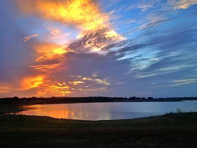 Photograph - Sunset Over The Lake by Debra Martz