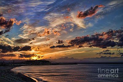 Photograph - Sunset Over Rethymno Crete by David Smith