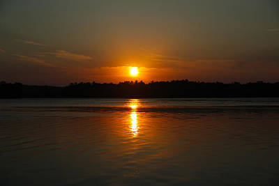 Sunset Over Rice Lake Art Print by James Hammen
