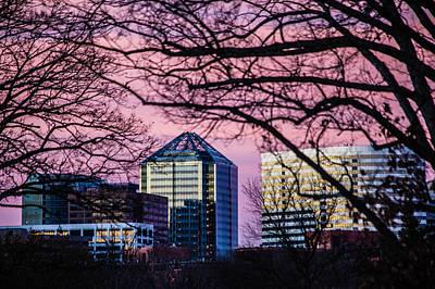 Photograph - Sunset Over Rosslyn by Karen Saunders