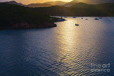 Photograph - Sunset Over Saint Thomas by Diane Macdonald