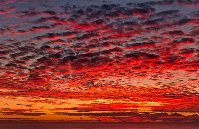 Impressionism Photos - Sunset over Saunders Reef by Kathleen Bishop