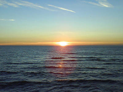 Photograph - Sunset Over Sea by Gordon Auld