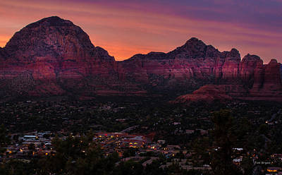 Photograph - Sunset Over Sedona Az by Tim Bryan