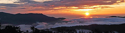 Photograph - Sunset Over Smokies by Alan Lenk