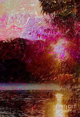 Sunset Over Soddy Art Print by Steven Lebron Langston
