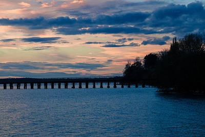 Sunset Over Squalicum Bay Art Print