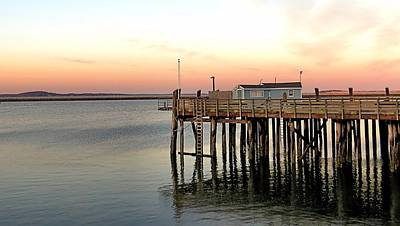 Photograph - Sunset Over State Pier Plymouth Ma by Janice Drew
