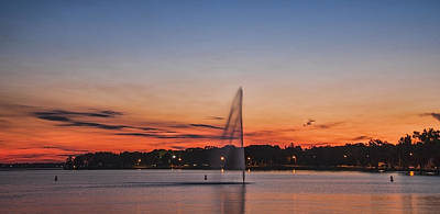Sunset Over Storm Lake Art Print by T C Hoffman