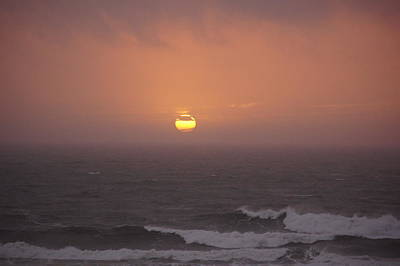 Photograph - Sunset Over Stormy Waters by Angi Parks