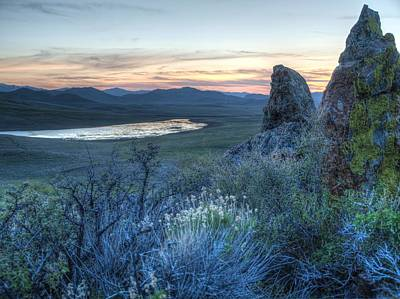 Photograph - Sunset Over Sunflower Reservoir by Jenessa Rahn