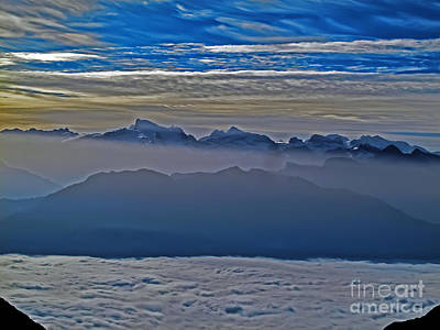 Photograph - Sunset Over Switzerland by Elvis Vaughn