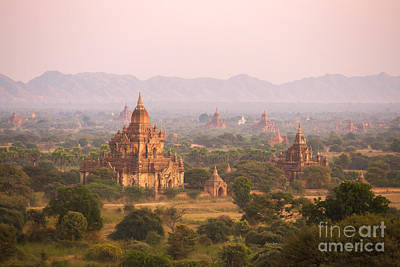 Myanmar Photograph - Sunset Over Temples Of Bagan - Myanmar by Matteo Colombo