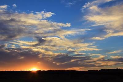 Sunset Over Texas Art Print