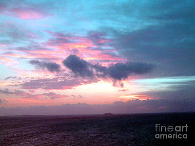 Photograph - Sunset Over The Atlantic by Anita Lewis