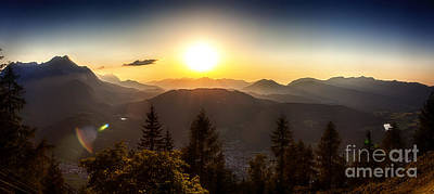 Photograph - Sunset Over The Bavarian Alps by Fabian Roessler