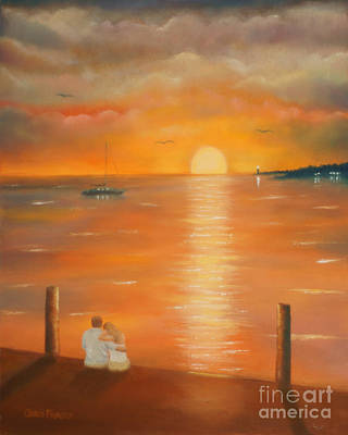 Sunset Over The Bay Art Print